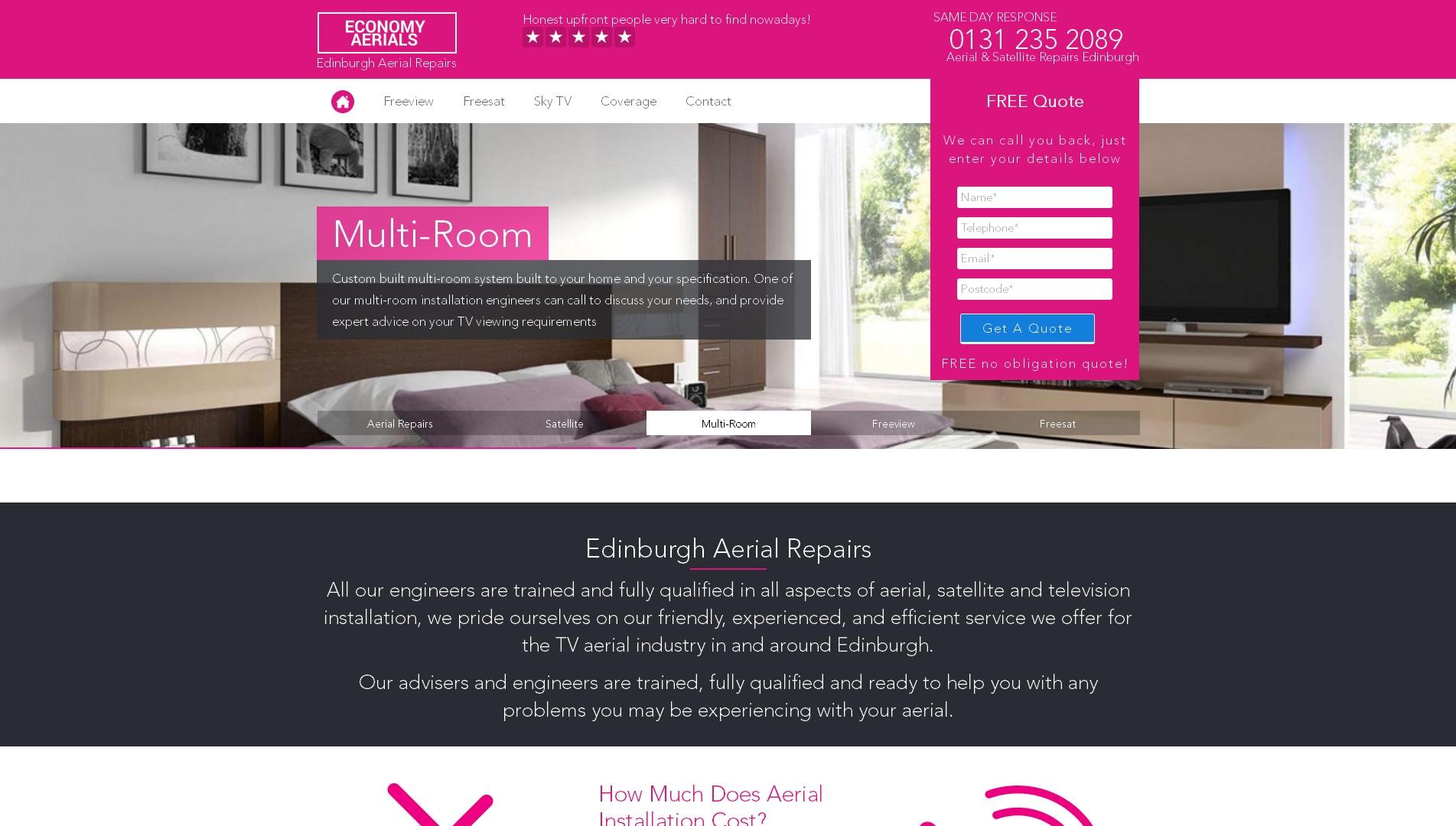 Aerial Installers Edinburgh - Economy Aerials
