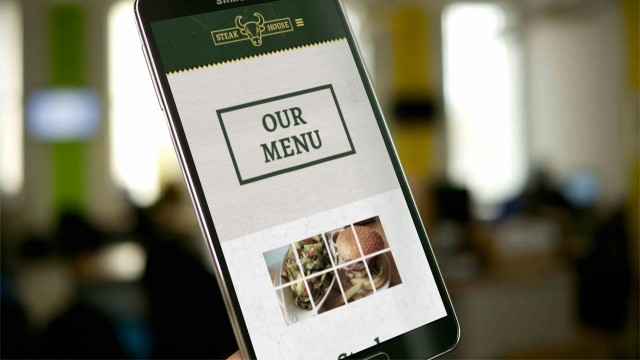 Steakhouse Website On Mobile Phone